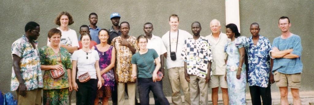 Het eerste reisgezelschap in 1999.