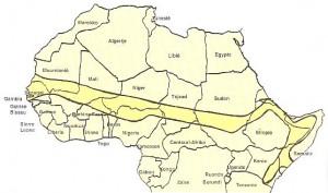 De Sahel-strook die door verwoestijning steeds breder wordt.