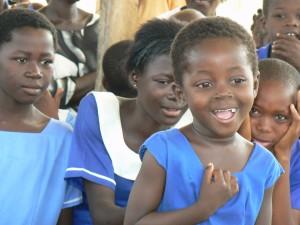 Schoolkinderen in Sirigu